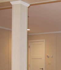 Easy Wrap column sleeves in Clifton Park basement