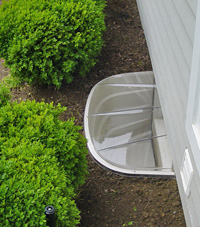 basement egress window well in Ballston Spa
