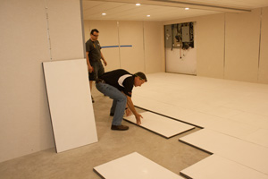 Installing insulated subfloor panels in Albany