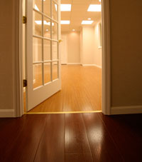 Basement Wood Flooring installed in Clifton Park, New York