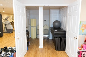 TBF finished basement with home gym in Schenectady